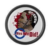 O...Yes We Did! Large Wall Clock