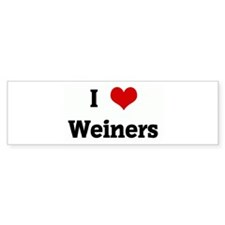 I Love Weiners Bumper Sticker (10 pk)