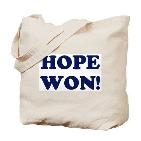 Hope Won (simple) Tote Bag
