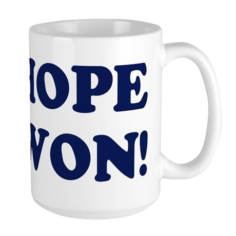 Hope Won (simple) Large Mug