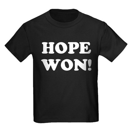 Hope Won (simple) Kids Dark T-Shirt