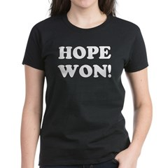 Hope Won (simple) Women's Dark T-Shirt
