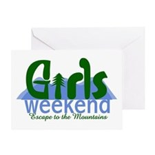 Mountain Girls Weekend Greeting Card