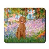 Garden/Std Poodle (apricot) Mousepad