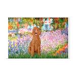 Garden/Std Poodle (apricot) Mini Poster Print