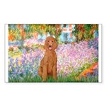 Garden/Std Poodle (apricot) Sticker (Rectangle 10