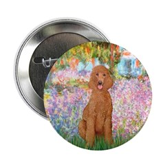 "Garden/Std Poodle (apricot) 2.25"" Button (100 pack"