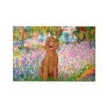 Garden/Std Poodle (apricot) Rectangle Magnet (100