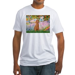 Garden/Std Poodle (apricot) Fitted T-Shirt