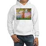 Garden/Std Poodle (apricot) Hooded Sweatshirt