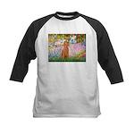 Garden/Std Poodle (apricot) Kids Baseball Jersey