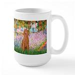 Garden/Std Poodle (apricot) Large Mug