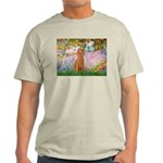 Garden/Std Poodle (apricot) Light T-Shirt