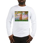Garden/Std Poodle (apricot) Long Sleeve T-Shirt
