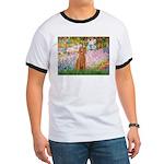 Garden/Std Poodle (apricot) Ringer T