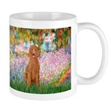 Garden/Std Poodle (apricot) Small Mug