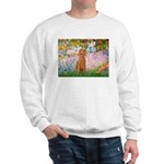 Garden/Std Poodle (apricot) Sweatshirt