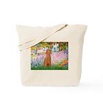 Garden/Std Poodle (apricot) Tote Bag