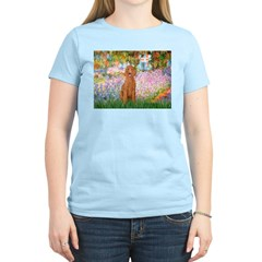 Garden/Std Poodle (apricot) Women's Light T-Shirt