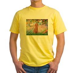 Garden/Std Poodle (apricot) Yellow T-Shirt