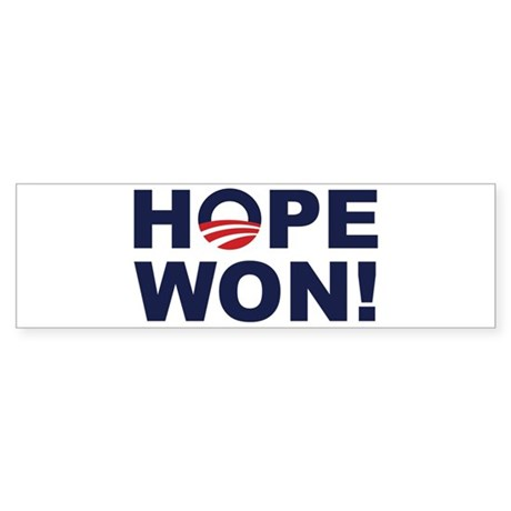 Hope Won! (Obama Symbol) Bumper Sticker (50 pk)