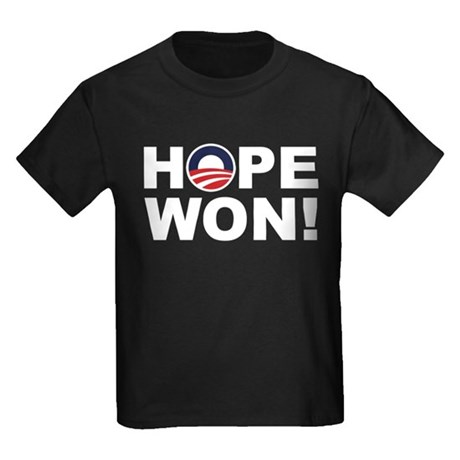 Hope Won! (Obama Symbol) Kids Dark T-Shirt