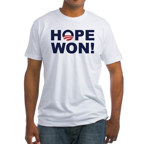 Hope Won! (Obama Symbol) Fitted T-Shirt
