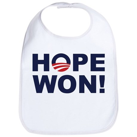 Hope Won! (Obama Symbol) Bib