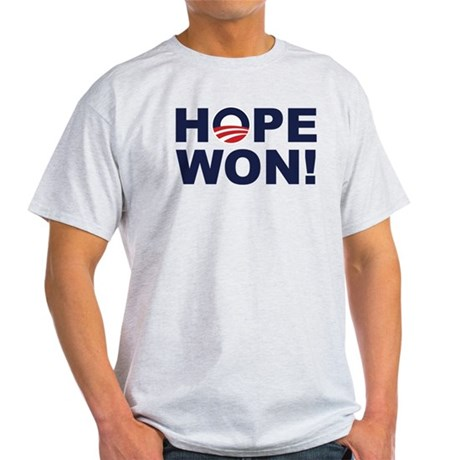 Hope Won! (Obama Symbol) Light T-Shirt
