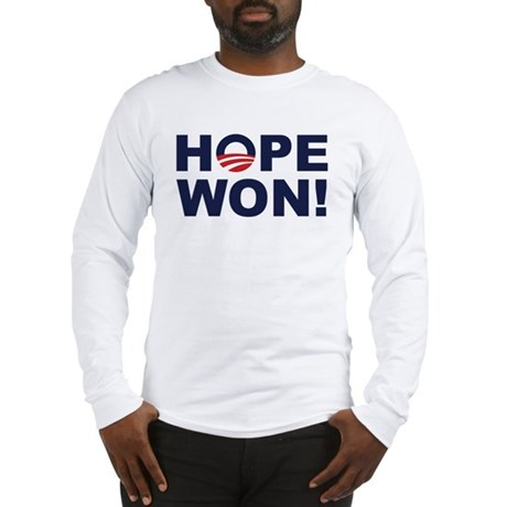 Hope Won! (Obama Symbol) Long Sleeve T-Shirt