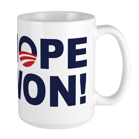 Hope Won! (Obama Symbol) Large Mug