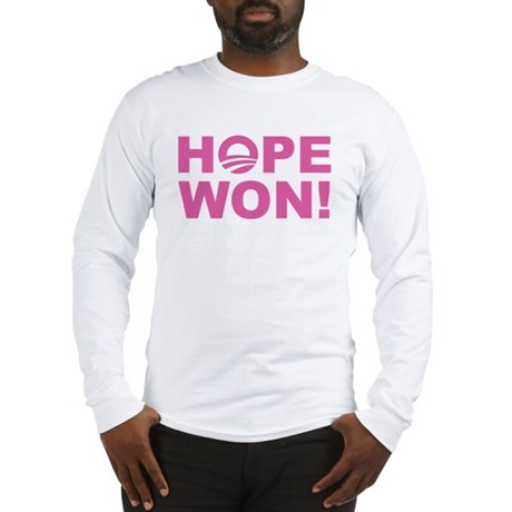 Hope Won (Obama - Pink) Long Sleeve T-Shirt