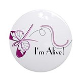 Breast Cancer Butterfly Keepsake (Round)