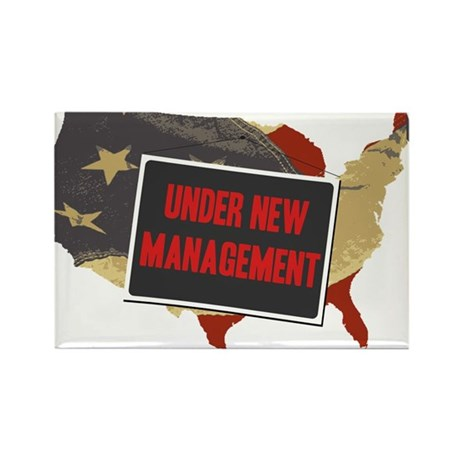 USA Under New Management Rectangle Magnet