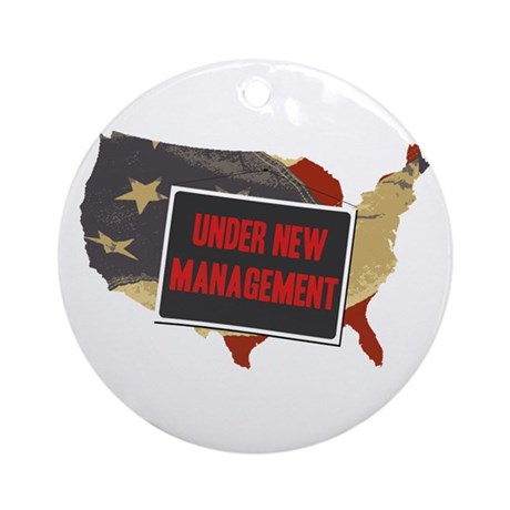 USA Under New Management Ornament (Round)