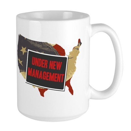 USA Under New Management Large Mug
