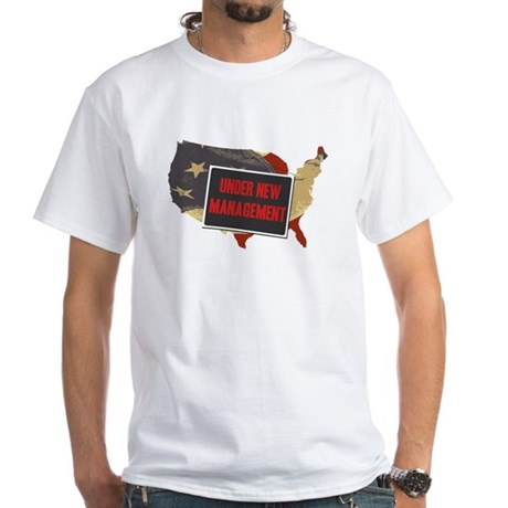 USA Under New Management White T-Shirt