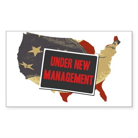 USA Under New Management Rectangle Sticker