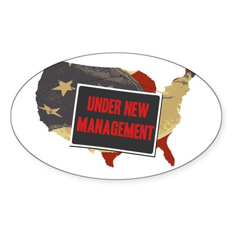 USA Under New Management Oval Sticker