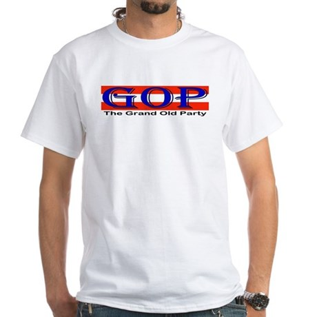 GOP Repulican White T-Shirt