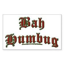 Bah Humbug Rectangle Decal