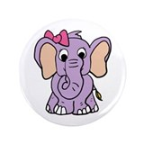 "Cute Elephant 3.5"" Button (100 pack)"