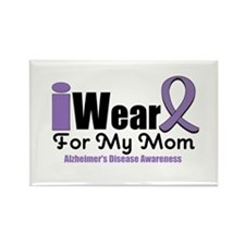 I Wear Purple Mom Rectangle Magnet (10 pack)