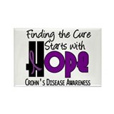 HOPE Crohn's Disease 4 Rectangle Magnet (100 pack)