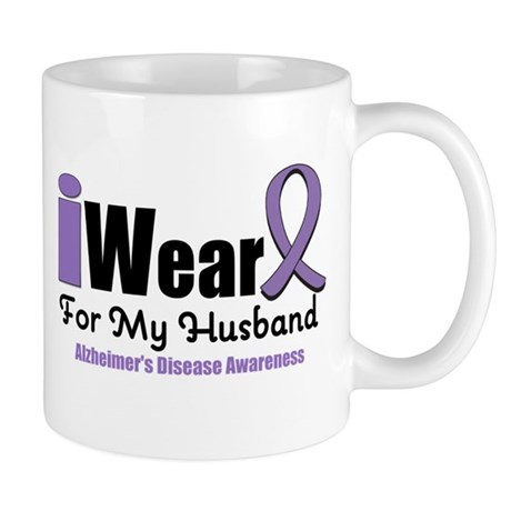 I Wear Purple (Husband) Mug