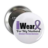 "I Wear Purple (Husband) 2.25"" Button"