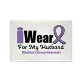 I Wear Purple (Husband) Rectangle Magnet