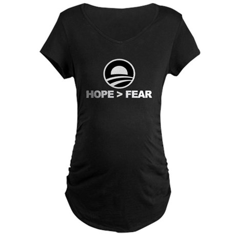 Hope is Greater Than Fear Maternity Dark T-Shirt