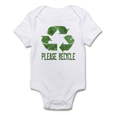 Please Recycle Grunge Infant Bodysuit