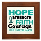 HOPE Ovarian Cancer 3 Framed Tile